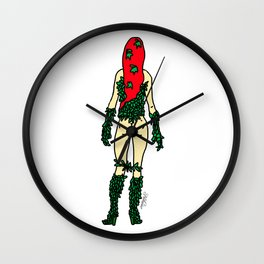 Superhero Butts - Green Ivy Wall Clock