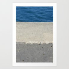Abstract - Cement and Lake Art Print