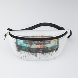Cassette painting  - Classic Tape retro illustration Fanny Pack