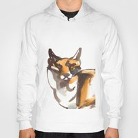 mr fox Hoodies featuring Mr Fox by Ryan Hodge Illustration