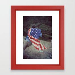 Run America Framed Art Print