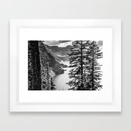 Forest Lake Retreat - Crater Lake Framed Art Print
