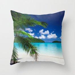 Classic Tropical Island Beach Paradise Throw Pillow