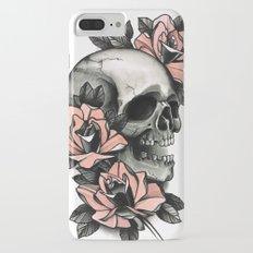 Skull and roses - tattoo iPhone 7 Plus Slim Case