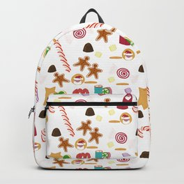 Christmas Sweeties Candies, Peppermints, Candy Canes and Chocolates Backpack
