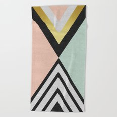Minimalist fashion and golden I Beach Towel