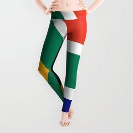 flag south africa, African,Afrikaans,Mandela,apartheid, Johannesburg,Soweto,Pretoria,Durban,Tembisa Leggings