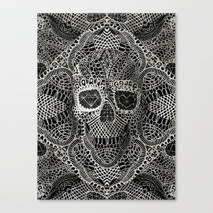 Lace Skull Canvas Print