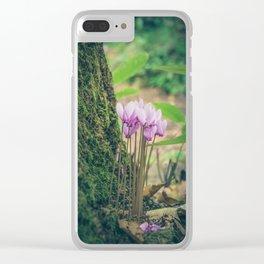 Cyclamen Clear iPhone Case