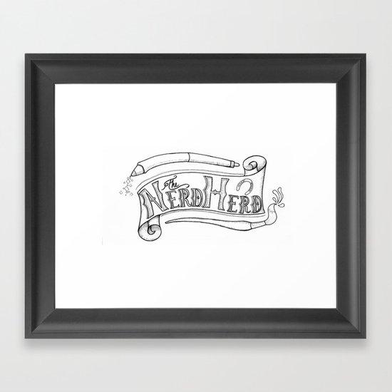 The Nerd Herd Framed Art Print
