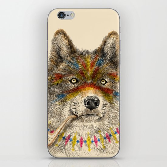 Cherokee Wolf iPhone & iPod Skin
