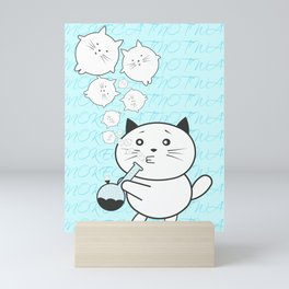 Smoke Cat not War Mini Art Print