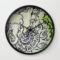 ellie goulding Wall Clocks featuring Ellie by Stephanie Darling