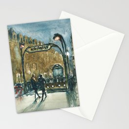 Metro Palais Royal - Musée du Louvre Stationery Cards