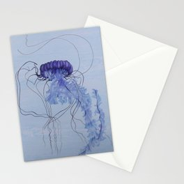 Blue Jellyfish 10 Stationery Cards