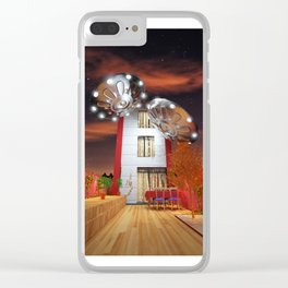 Idilic Night with Ovnis Clear iPhone Case