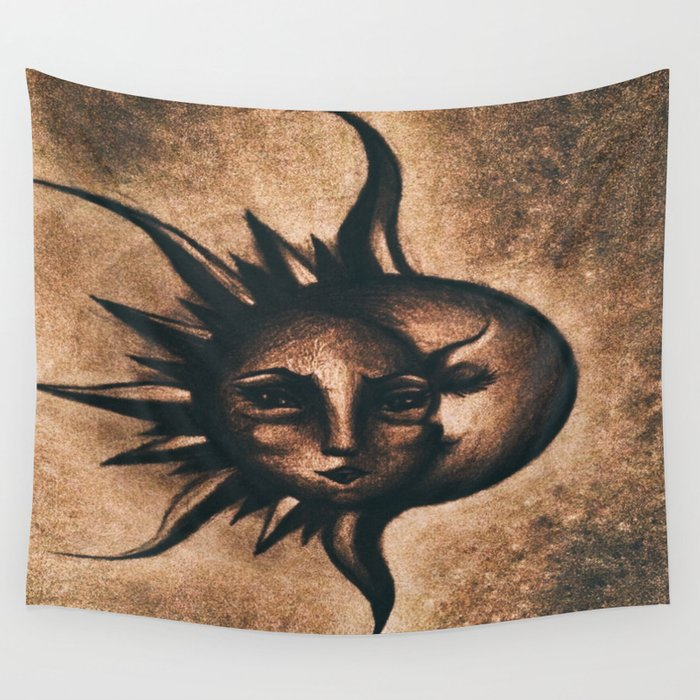 Lune et Soleil (Moon and Sun) Wall Tapestry