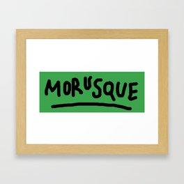 morusque Framed Art Print