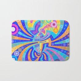 Colorful, Vibrant Abstract Bath Mat