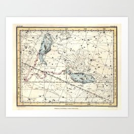 Pisces Constellation Celestial Atlas Plate 22 - Alexander Jamieson Art Print