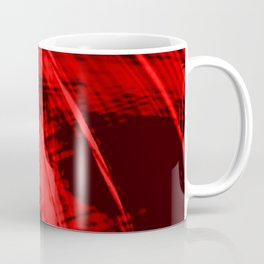 Falling fading fibers of bright lines with bloody energy of futuristic abstraction.  Coffee Mug