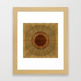 """""""Golden Circle Japanese Vintage"""" Framed Art Print"""