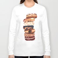 donuts Long Sleeve T-shirts featuring Donuts! by Sam Luotonen