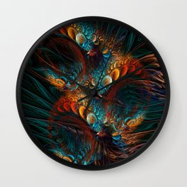 Reverie. Fractal Abstract Wall Clock