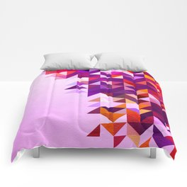 Colourful and Vibrant Geometric Nature on Ombre Pink Comforters