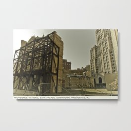 Providence Postcard Project: Providence National Bank Facade, Downtown.  Metal Print