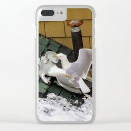 Brawling Gulls (3) Clear iPhone Case