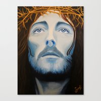 christ Canvas Prints featuring Christ Painting by Samantha Hardcastle