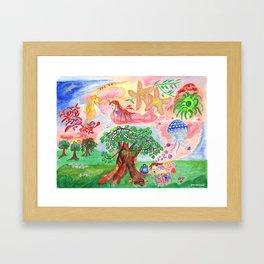 Medilludesign - Lucid dreams - flying in the sea Framed Art Print