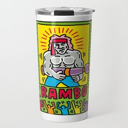Rambo Movie Poster Travel Mug