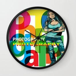 Creative Title : PHOTOGRAPHY STILL Wall Clock