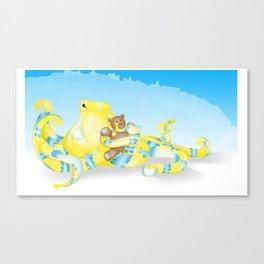 Octopus&Teddy Canvas Print