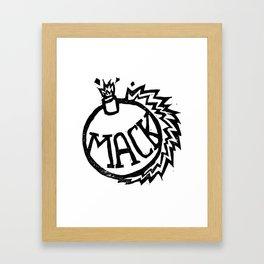 MackBomb Framed Art Print