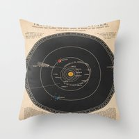solar system Throw Pillows featuring Solar System by Le petit Archiviste