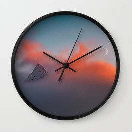 Crescent Moon - Landscape and Nature Photography Wall Clock