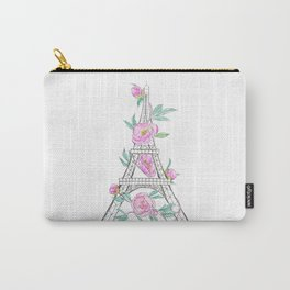 Eiffel tower and peonies Carry-All Pouch