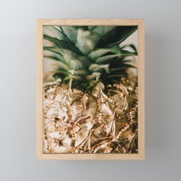 24 Karat Pineapple Framed Mini Art Print