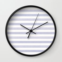 Blue n White Stripe Wall Clock