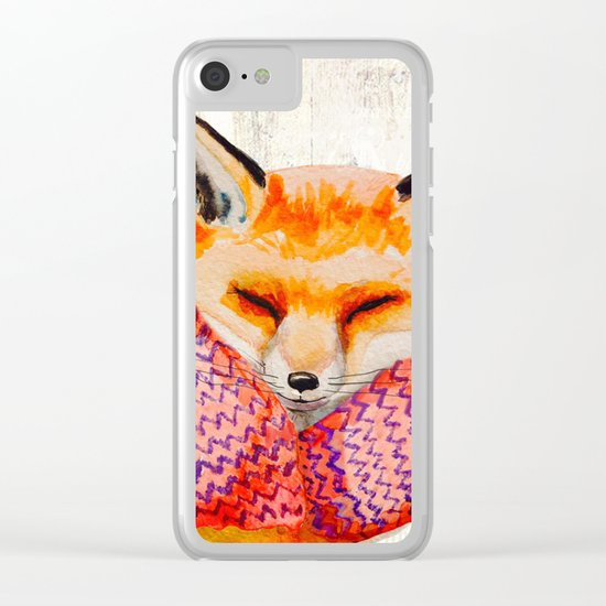 Winter animal #3 Clear iPhone Case