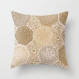 Sandalwood Souk Throw Pillow