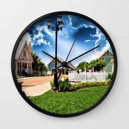 Avonlea Village Under A Dramatic Sky Wall Clock