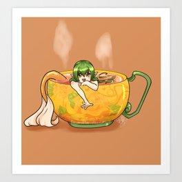 Teacup Mermaid Art Print