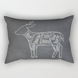 Venison Butcher Diagram (Deer Meat Chart) Rectangular Pillow