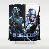 robocop Shower Curtains featuring Robocop by store2u