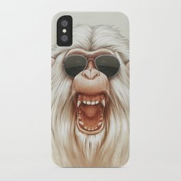 The Great White Angry Monkey iPhone Case