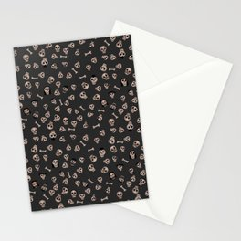 Skull Town (on Charcoal Grey Background) Stationery Cards